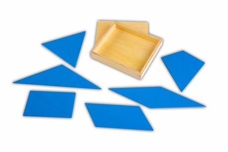 Triangoli blu: materiale Montessori